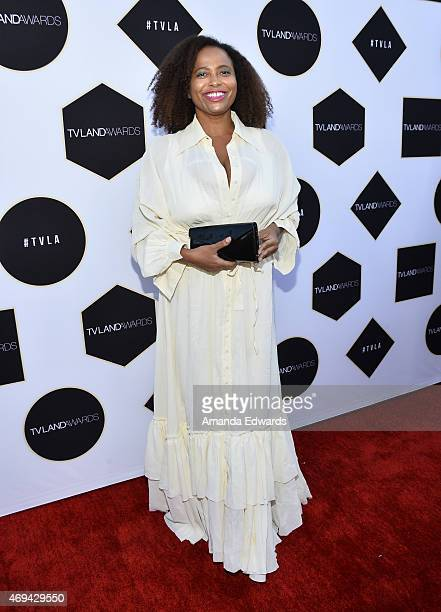 Actress Lisa Nicole Carson arrives at the 2015 TV LAND Awards at the Saban Theatre on April 11 2015 in Beverly Hills California