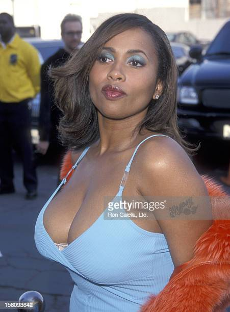 Actress Lisa Nicole Carson attends the 13th Annual Soul Train Music Awards on March 26 1999 at Shrine Auditorium in Los Angeles California