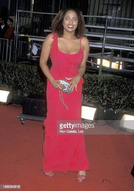 Actress Lisa Nicole Carson attends the Seventh Annual Screen Actors Guild Awards on March 11 2001 at Shrine Exposition Center in Los Angeles...