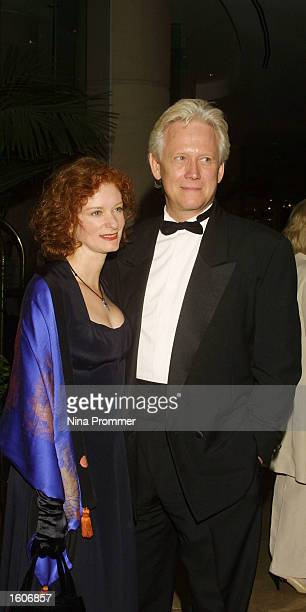 Actress Lisa Pelican and Bruce Davidson attend the 5th annual Hollywood Film Festival Awards Gala August 6 2001 at the Beverly Hilton Hotel in...