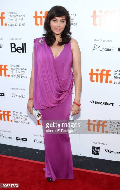 """Actress Lisa Ray arrives at the """"Cooking With Stella"""" screening during the 2009 Toronto International Film Festival held at Roy Thomson Hall on..."""