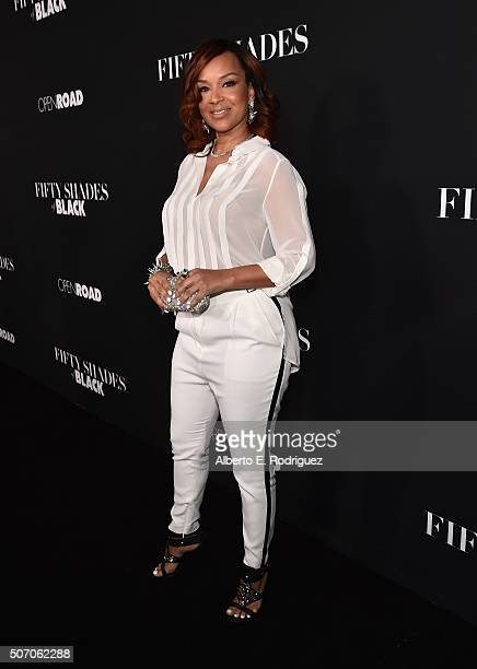Actress Lisa Raye McCoy attends the premiere of Open Road Films' Fifty Shades of Black at Regal Cinemas LA Live on January 26 2016 in Los Angeles...