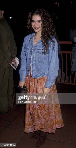 Actress Lisa Rieffel attends the premiere of Book Of Love on January 29 1991 at AMC 13 Cinema in Century City California
