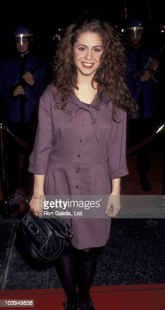 Actress Lisa Rieffel attends the premiere of Freejack on January 16 1992 at Mann Chinese Theater in Hollywood California