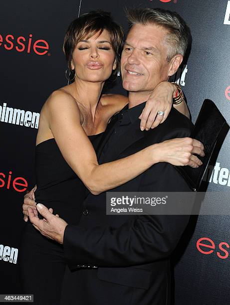 Actress Lisa Rinna and actor Harry Hamlin attend the Entertainment Weekly celebration honoring this year's SAG Awards nominees sponsored by TNT TBS...