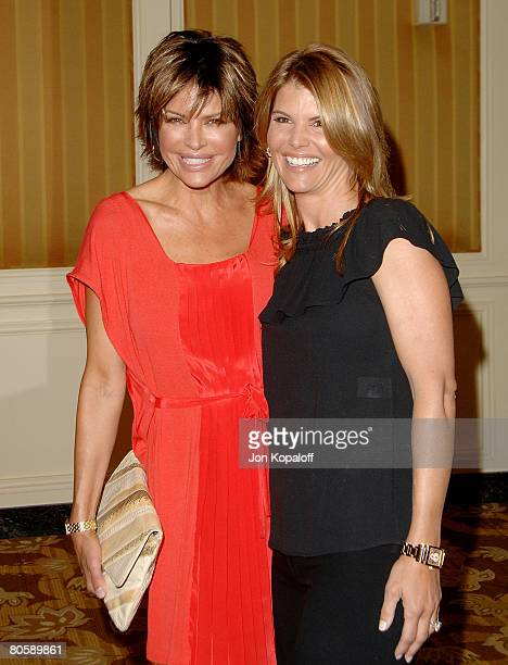 Actress Lisa Rinna and actress Lori Loughlin arrive at Saks Fifth Avenue's 20th Annual Spring Luncheon at the Beverly Wilshire Hotel on April 9 2008...