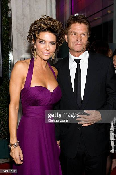 Actress Lisa Rinna and Mark Hamill arrive at the 1st Annual 'Party With A Purpose' Viewing And After Party at Mr Chow on February 22 2009 in Beverly...