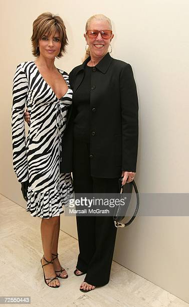 Actress Lisa Rinna and Michael Kors' mother Joan Kors attends the Michael Kors instore appearance and fashion show at Nieman Marcus on November 14...