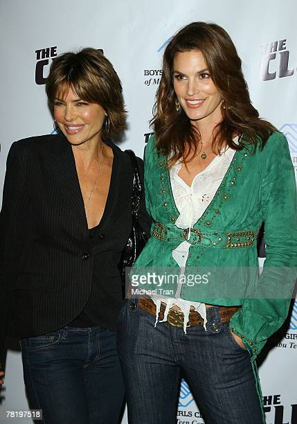 Actress Lisa Rinna and supermodel Cindy Crawford arrives at the The First Malibu Teen Center Launch Event held at The Boys Girls Club of Malibu on...