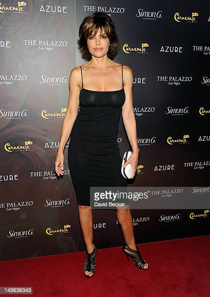 Actress Lisa Rinna arrives at Simon G Jewelry's Summer Soiree and the kickoff of Carnevale Nights at The Palazzo on June 2 2012 in Las Vegas Nevada