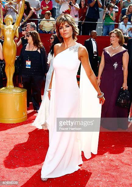 Actress Lisa Rinna arrives at the 60th Primetime Emmy Awards held at Nokia Theatre on September 21 2008 in Los Angeles California