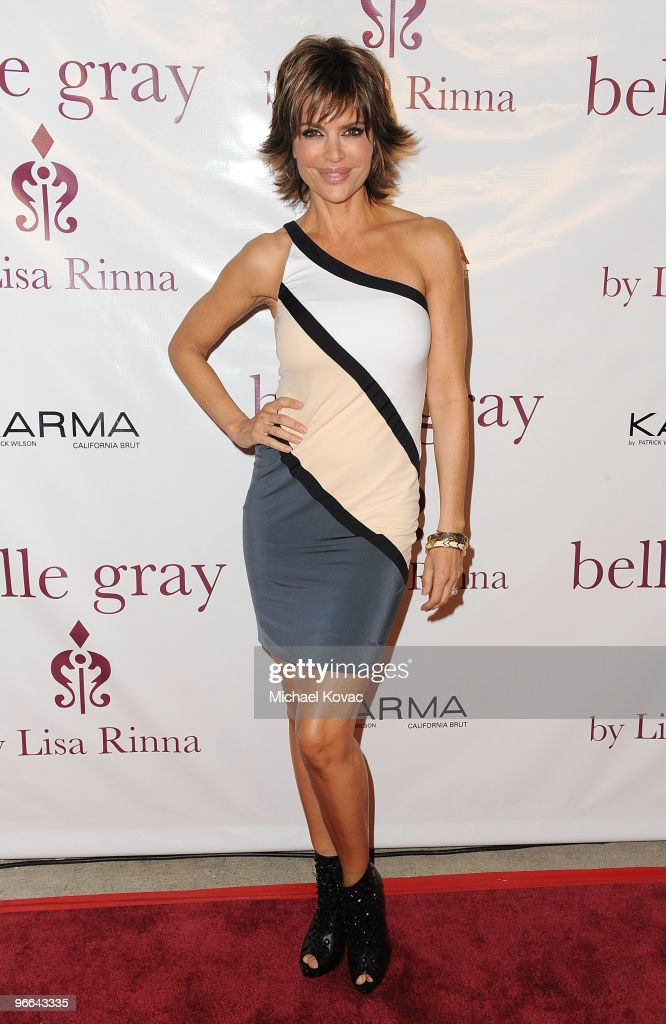 Actress Lisa Rinna arrives at the 7th anniversary celebration of her Belle Gray Boutique on February 12, 2010 in Los Angeles, California.