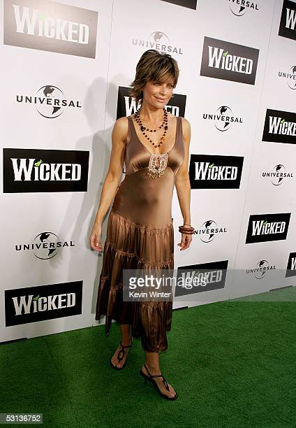 Actress Lisa Rinna arrives at the Los Angeles Premiere of the Broadway musical Wicked at the Pantages Theatre on June 22 2005 in Hollywood California
