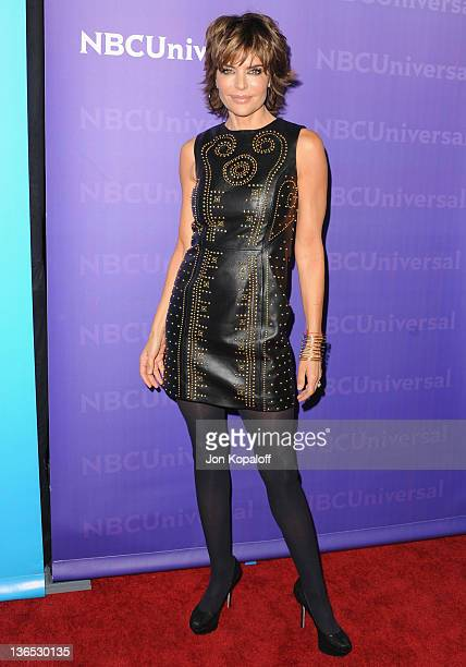 Actress Lisa Rinna arrives at the NBC Universal All-Star Party at The Athenaeum on January 6, 2012 in Pasadena, California.