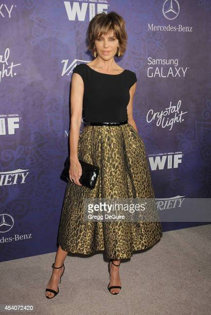 Actress Lisa Rinna arrives at the Variety And Women In Film Annual PreEmmy Celebration at Gracias Madre on August 23 2014 in West Hollywood California