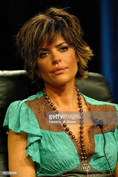Actress Lisa Rinna attends Court TV's 'Hollywood Stalkers' panel during the Court TV 2005 Television Critics Association Summer Press Tour at the...