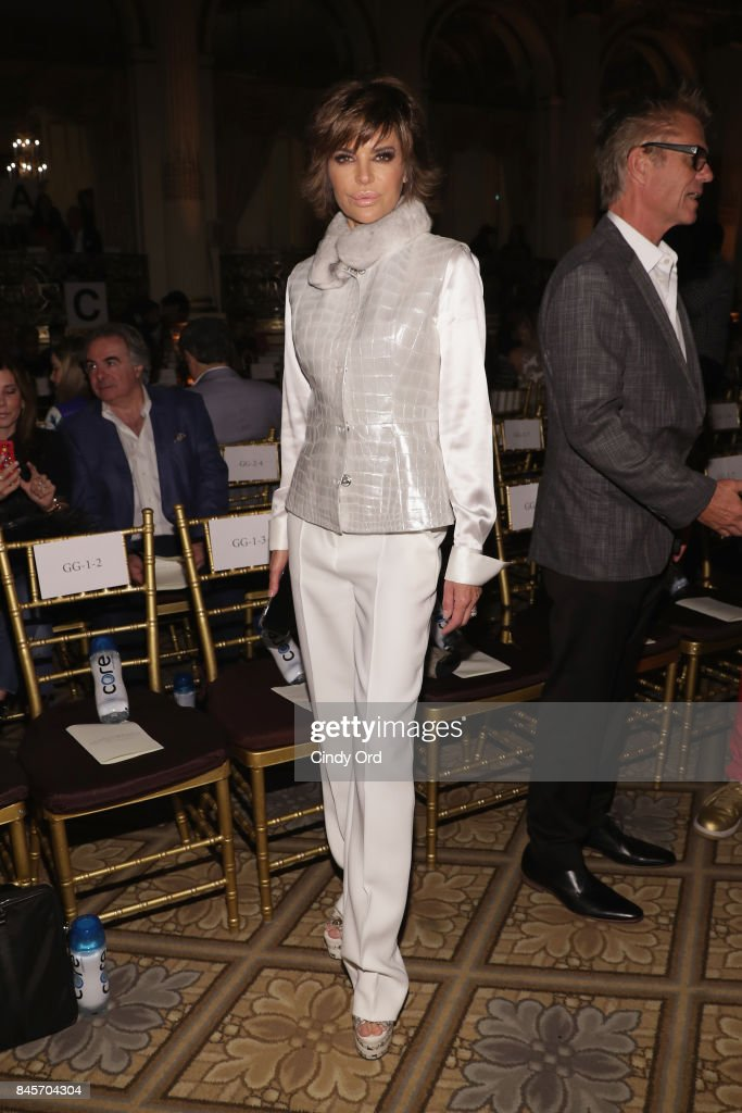 Actress Lisa Rinna attends Dennis Basso fashion show during New York Fashion Week: The Shows at The Plaza Hotel on September 11, 2017 in New York City.
