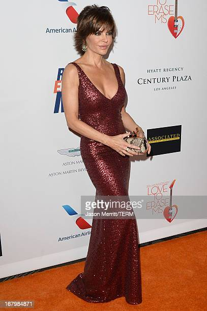 Actress Lisa Rinna attends the 20th Annual Race To Erase MS Gala Love To Erase MS at the Hyatt Regency Century Plaza on May 3 2013 in Century City...