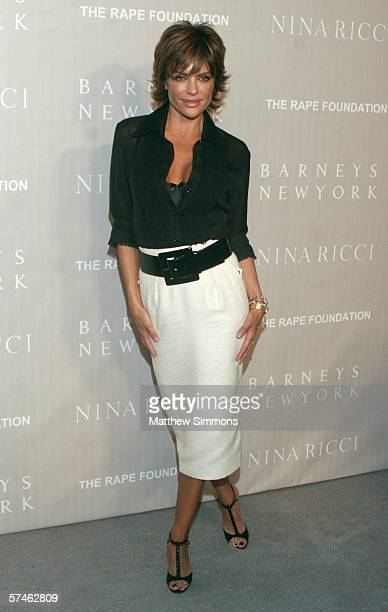Actress Lisa Rinna attends the Nina Ricci Fall 2006 Collection fashion show to benefit The Rape Foundation at Barneys New York on April 26 2006 in...
