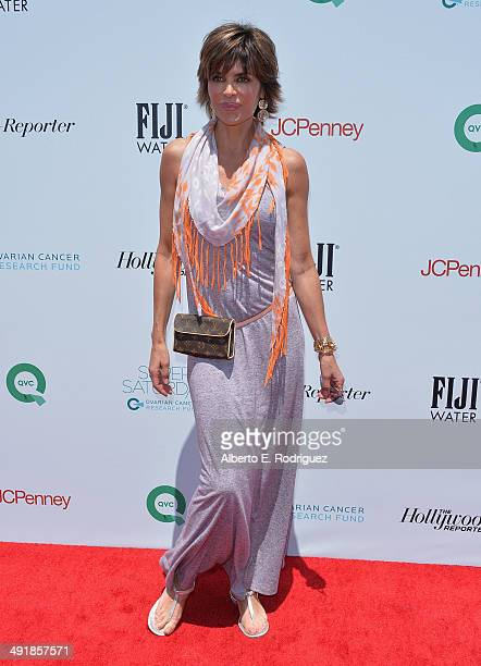Actress Lisa Rinna attends the Ovarian Cancer Research Fund's Inaugural Super Saturday LA hosted by Molly Sims and Rachel Zoe at Barker Hangar on May...