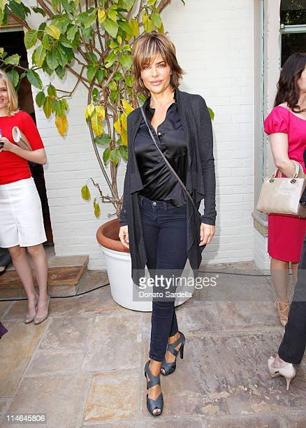 Actress Lisa Rinna attends the PS ARTS Bag Lunch Sponsored By Dior Beauty held at a Private Residence on May 24 2011 in Santa Monica California