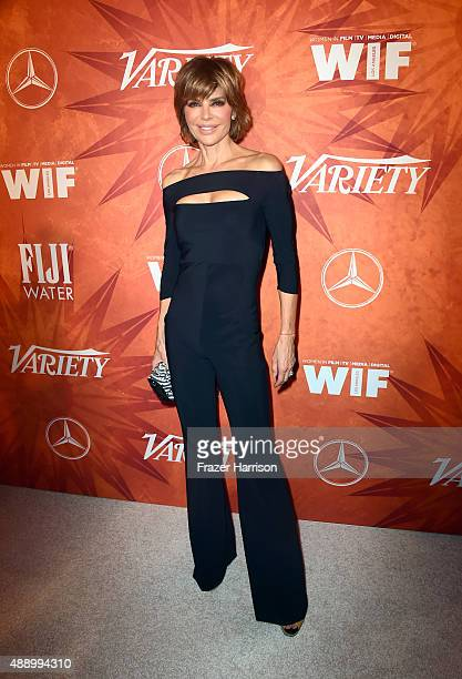 Actress Lisa Rinna attends the Variety and Women in Film Annual PreEmmy Celebration at Gracias Madre on September 18 2015 in West Hollywood California
