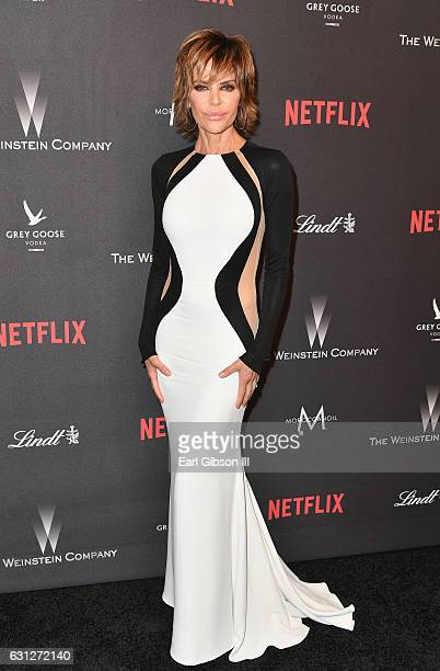 Actress Lisa Rinna attends The Weinstein Company and Netflix Golden Globe Party presented with FIJI Water Grey Goose Vodka Lindt Chocolate and...