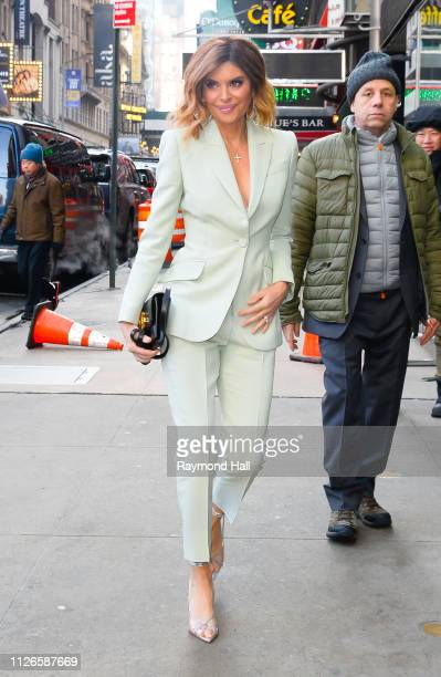 Actress Lisa Rinna is seen arriving at Good Morning America on February 21 2019 in New York City