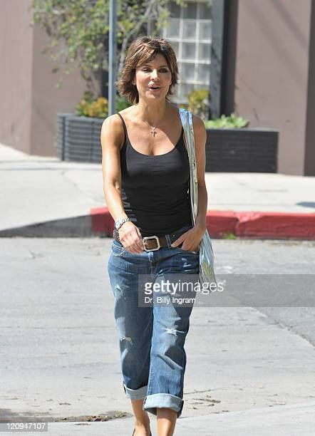 Actress Lisa Rinna participates in the Honk If You Love Lisa Rinna Campaign on March 18 2009 in Los Angeles California