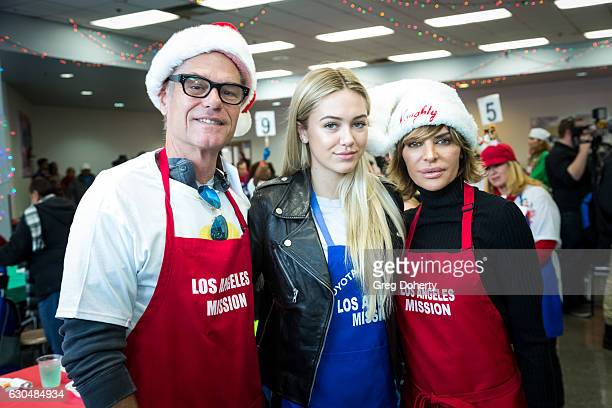 Actress Lisa Rinna their daughter Delilah Hamlin and Actor Harry Hamilin attend the Los Angeles Mission Christmas Celebration at Los Angeles Mission...