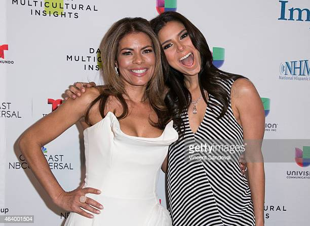 Actress Lisa Vidal and actress actress Roselyn Sanchez attend the National Hispanic Media Coalition's Impact Awards gala at Regent Beverly Wilshire...