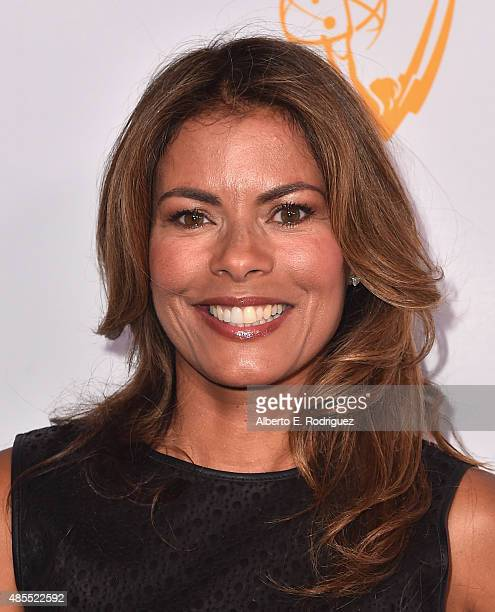 Actress Lisa Vidal attends a cocktail party celebrating dynamic and diverse nominees for the 67th Emmy Awards hosted by the Academy of Television...