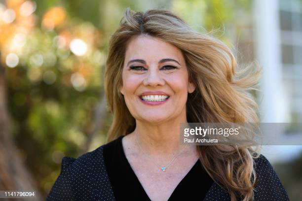 """Actress Lisa Whelchel visits Hallmark's """"Home & Family"""" at Universal Studios Hollywood on April 10, 2019 in Universal City, California."""
