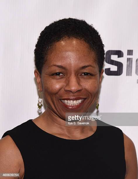 Actress LisaGay Hamilton attends 'The Liquid Plane' Opening Night Party at Signature Theatre Company's The Pershing Square Signature Center on March...
