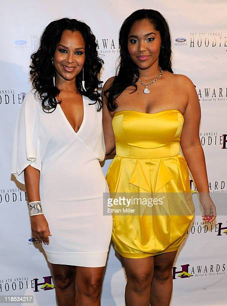 Actress LisaRaye and her daughter Kai Morae arrive at the eighth annual Ford Hoodie Awards at the Mandalay Bay Events Center August 28 2010 in Las...