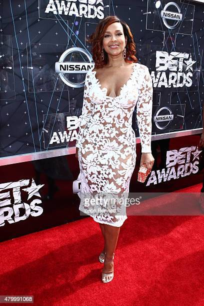 Actress LisaRaye McCoy arrived at the BET Make A Wish Foundation Recipients BET Experience At LA Live Red Carpet arrivals Weekend Events on June 28...