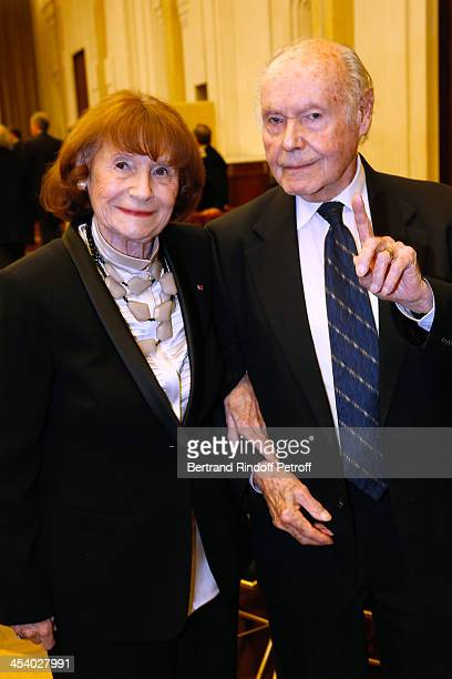 Actress Lise Graf and Autor Rene de Obaldia attending the celebration of 26 Years of Russian French Friendship by the 'Association of the Saint...