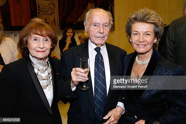 Actress Lise Graf Autor Rene de Obaldia and Princess Suzanne Mourousy attending the celebration of 26 Years of Russian French Friendship by the...