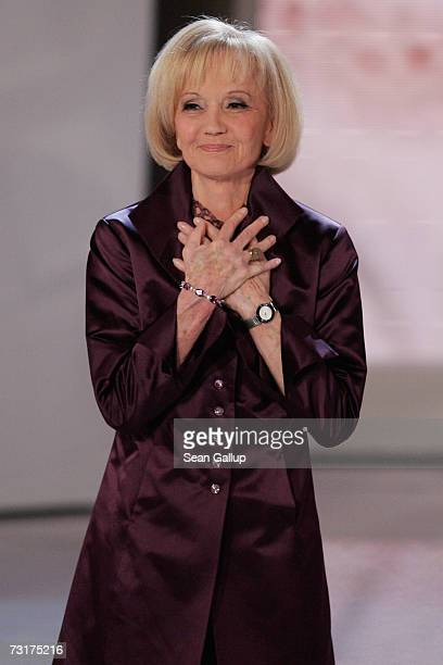 Actress Liselotte Pulver arrives to receive her Lifetime Achievement Award at the 42nd Goldene Kamera Awards February 1 2007 in Berlin Germany