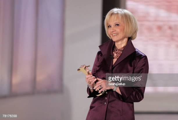 Actress Liselotte Pulver holds her Lifetime Achievement Award at the 42nd Goldene Kamera Awards February 1 2007 in Berlin Germany