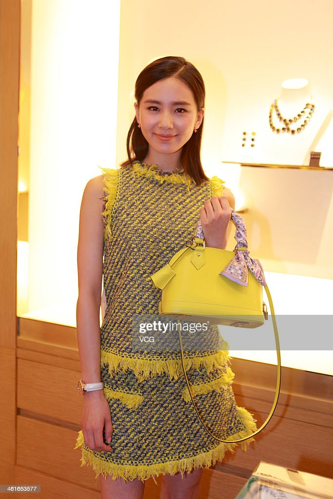 Actress Liu Shishi attends Louis Vuitton store opening ceremony at Galaxy Mall on January 9, 2014 in Tianjin, China.