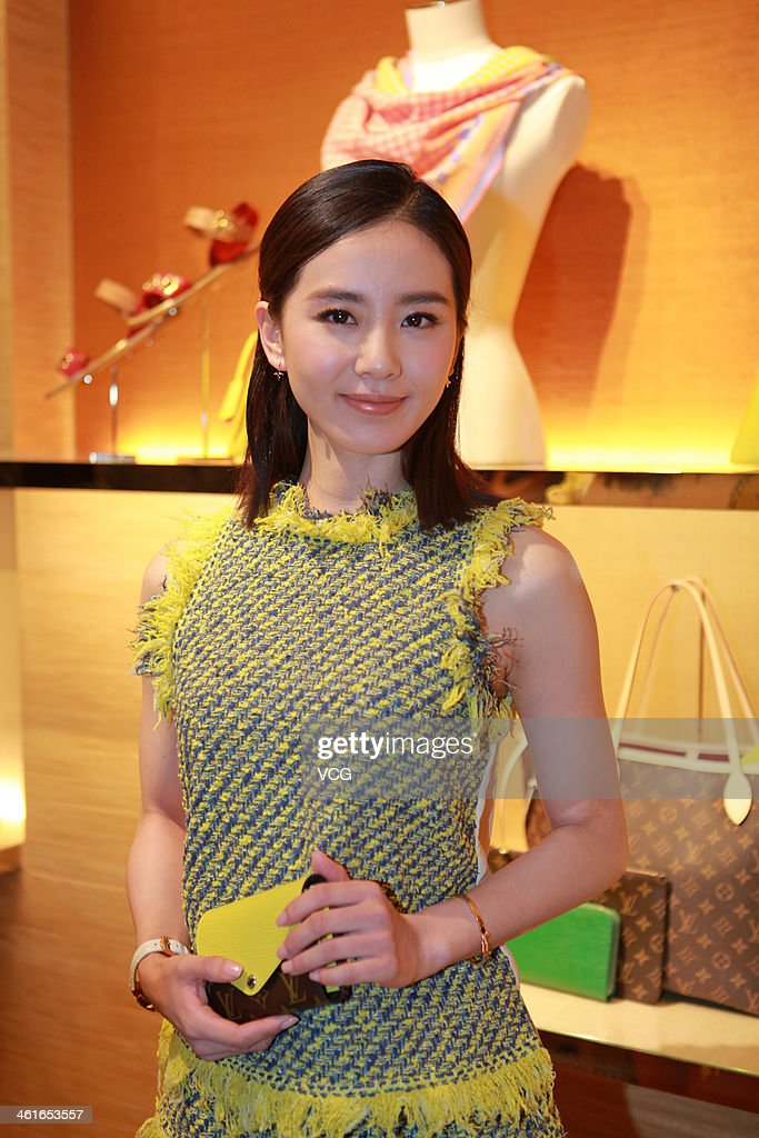 Actress Liu Shishi attends the Louis Vuitton store opening ceremony at Galaxy Mall on January 9, 2014 in Tianjin, China.