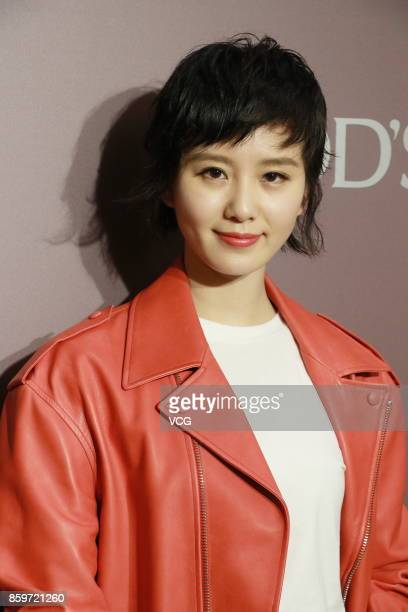 Actress Liu Shishi attends Tod's party on October 10 2017 in Hong Kong China