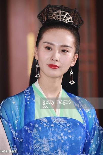 """Actress Liu Shishi poses during the interviews at the shooting site of ancient costume TV drama """"Lost Love in Times"""" on December 12, 2016 in Ningbo,..."""