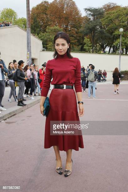 Actress Liu Tao attends the Hermes show as part of the Paris Fashion Week Womenswear Spring/Summer 2018 on October 2, 2017 in Paris, France.
