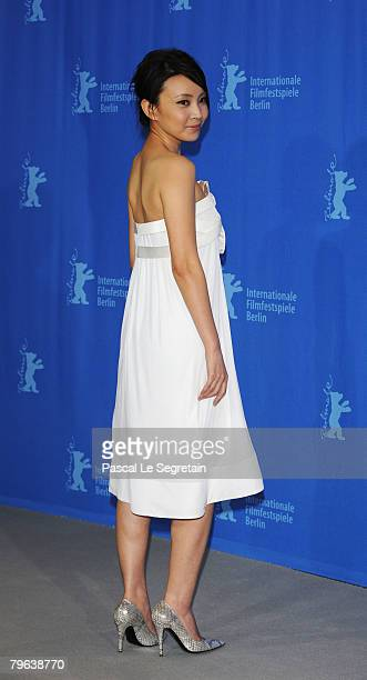 Actress Liu Weiwei attends the 'In Love We Trust' Photocall and Press Conference as part of the 58th Berlinale Film Festival at the Grand Hyatt Hotel...