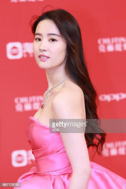 Actress Liu Yifei arrives at the red carpet of the 20th Shanghai International Film Festival on June 17 2017 in Shanghai China
