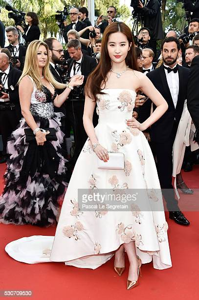 Actress Liu Yifei attends the 'Cafe Society' premiere and the Opening Night Gala during the 69th annual Cannes Film Festival at the Palais des...