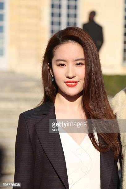 Actress Liu Yifei attends the Christian Dior Haute Couture Spring Summer 2016 show as part of Paris Fashion Week on January 25 2016 in Paris France