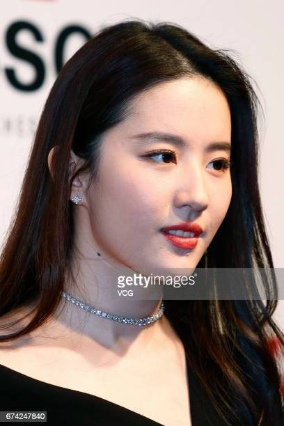 Actress Liu Yifei attends the press conference for watch brand Tissot on April 27 2017 in Beijing China